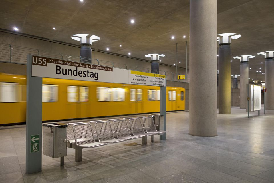 Tube station , Bundestag, Berlin, Germany