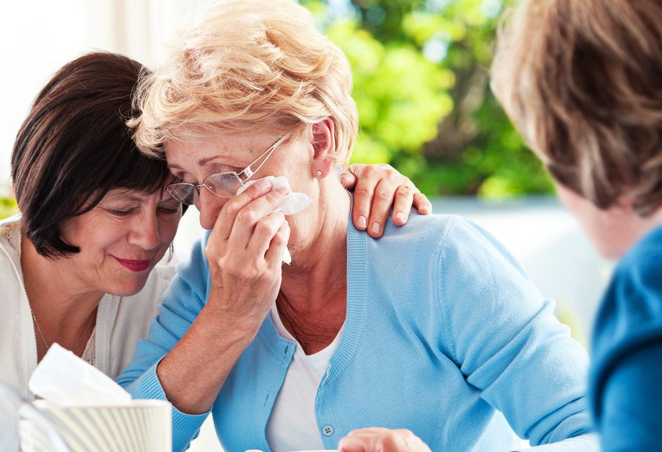estranged grandparent receiving support from friend