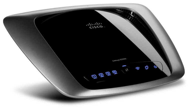 Picture of the Linksys E2000 router
