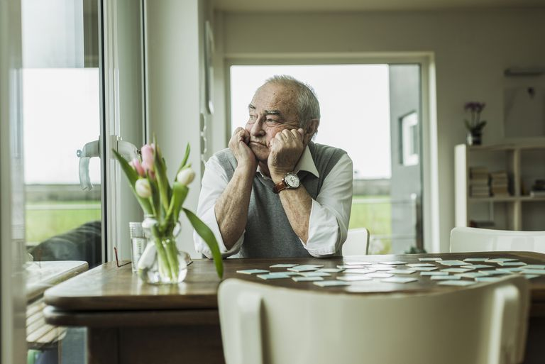Man displaying apathy in dementia