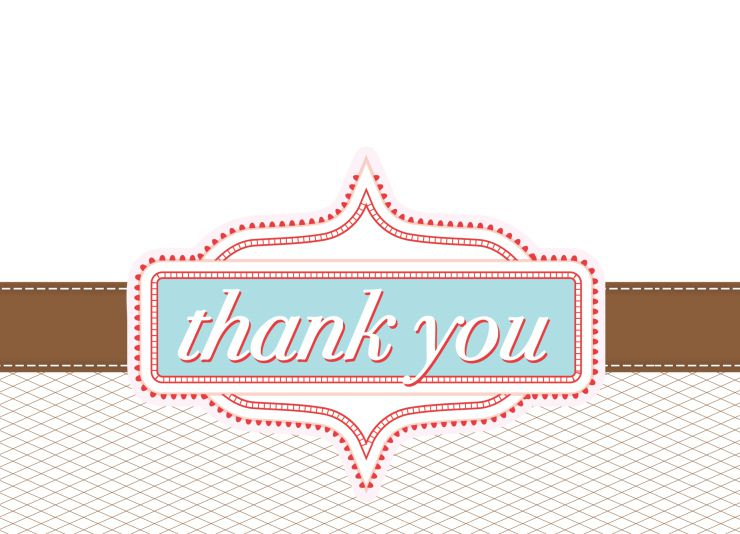 thank you printable cards