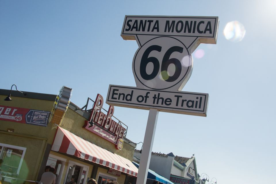 Santa Monica Route 66 End of the Trail Sign