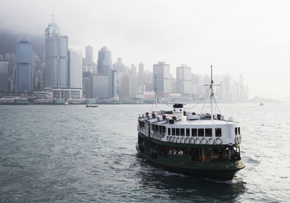 'Star Ferry' in Victoria Harbour,Hong Kong