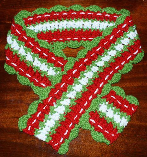 Crochet Christmas Scarf Pattern