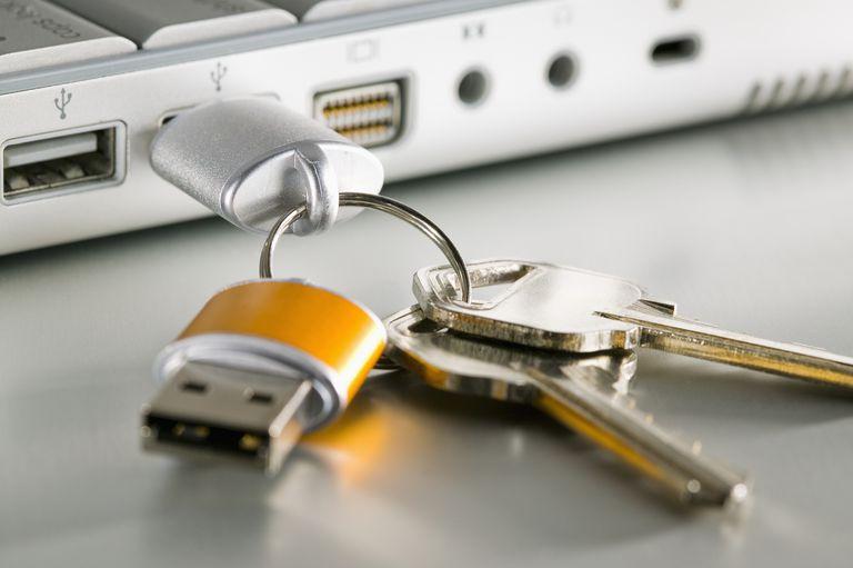 USB Flash drive with keychain