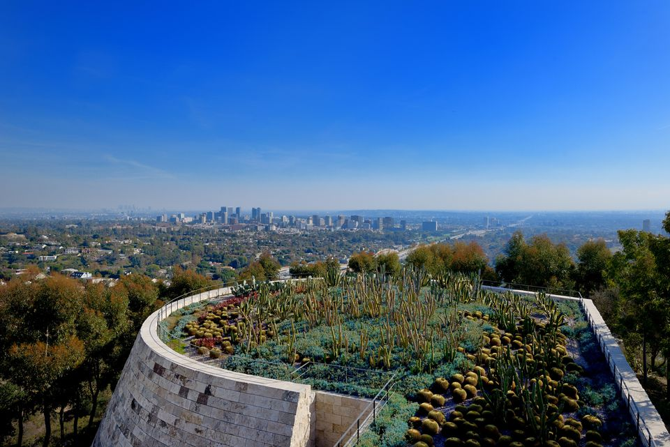Getty Center garden , Los Angeles