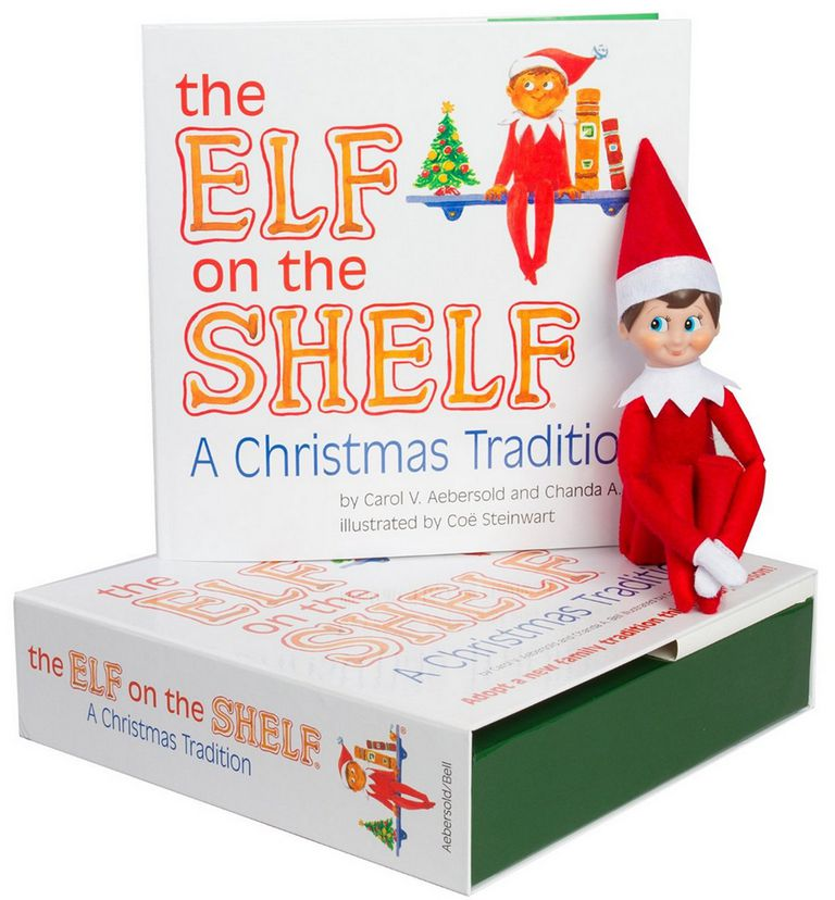 A picture of the Elf on the Shelf