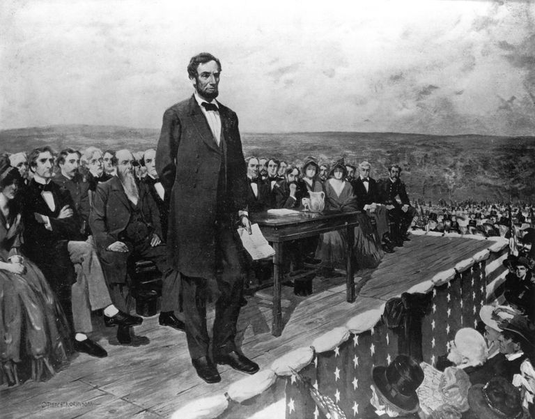 Abraham Lincoln at the Gettysburg Address