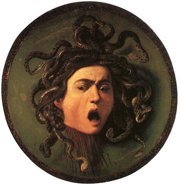 Medusa, by Caravaggio 1597.