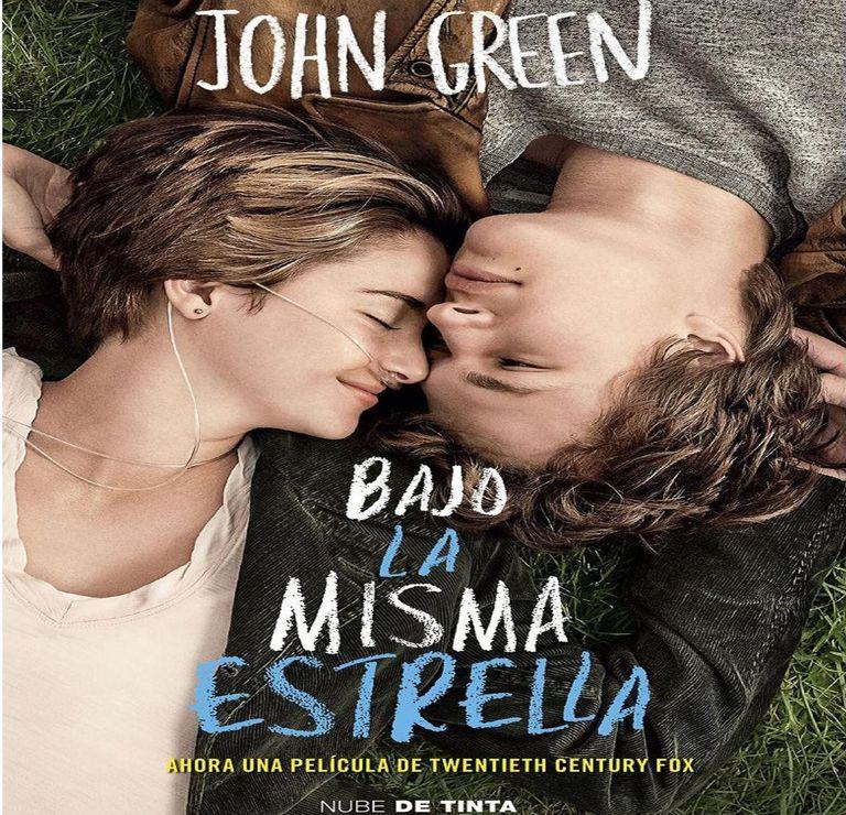 Bajo la misma estrella de John Green libros juveniles románticos