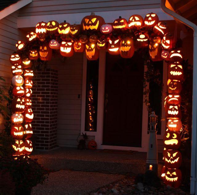 DIY Pumpkin Archway