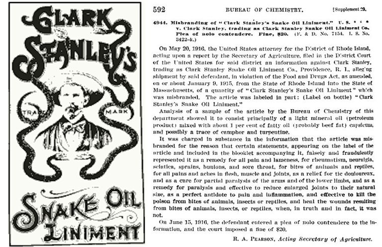 Clark Stanley Snake Oil Liniment Label