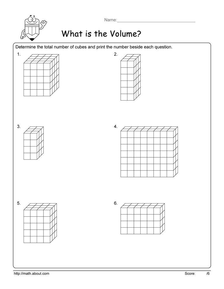 Volume Cube Worksheets – Volume Worksheets