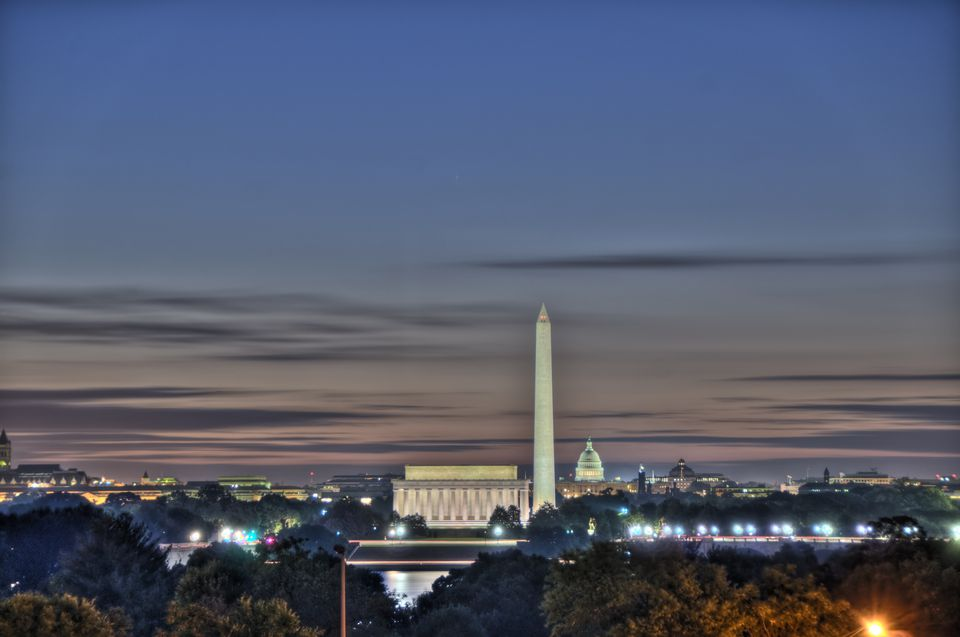 The Washington DC skyline at dawn. Shot using HDR.
