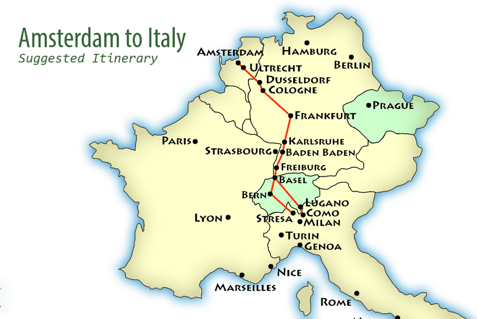 suggested itinerary map