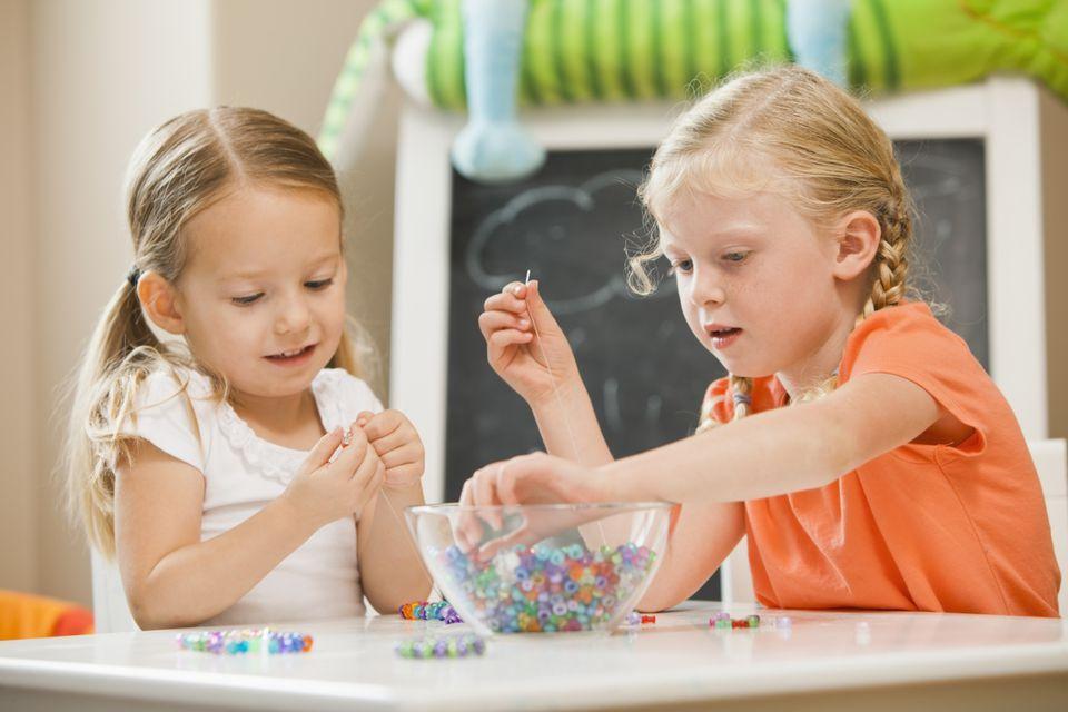Kids string beads