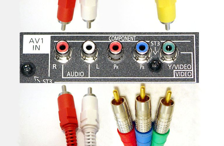 Shared Composite/Component Video TV Video Connections Example