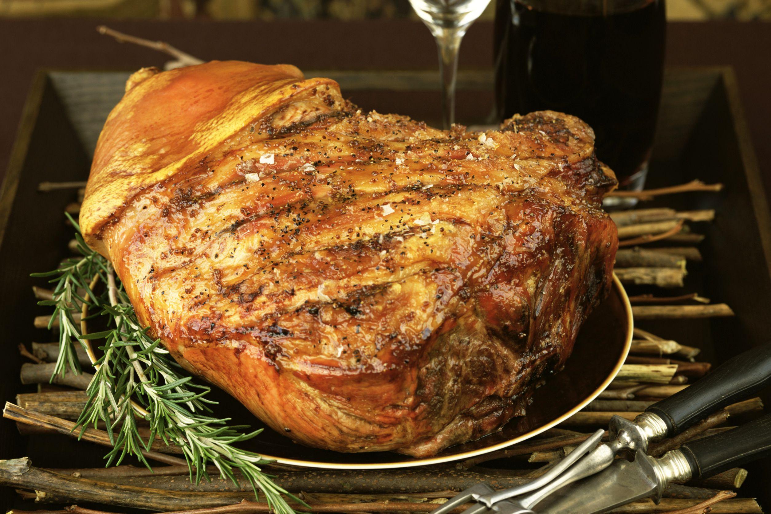 Brown Sugar Marmalade Glazed Pork Shoulder Picnic Ham