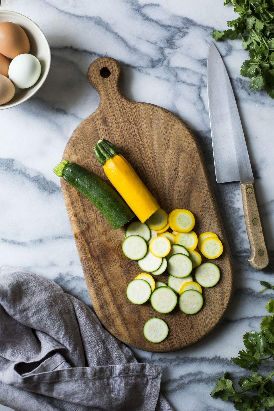 Summer vegetables. Courgettes.