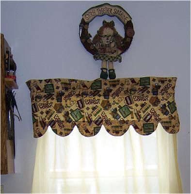 Sew A Curtain Valance With A Scalloped Edges Pattern