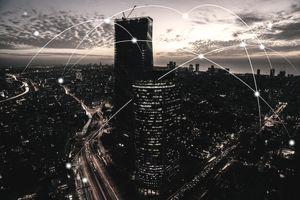 Computer network connection modern city future internet technology