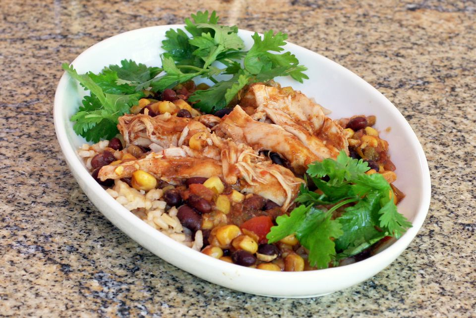 Tex-Mex Style Chicken, Slow Cooker
