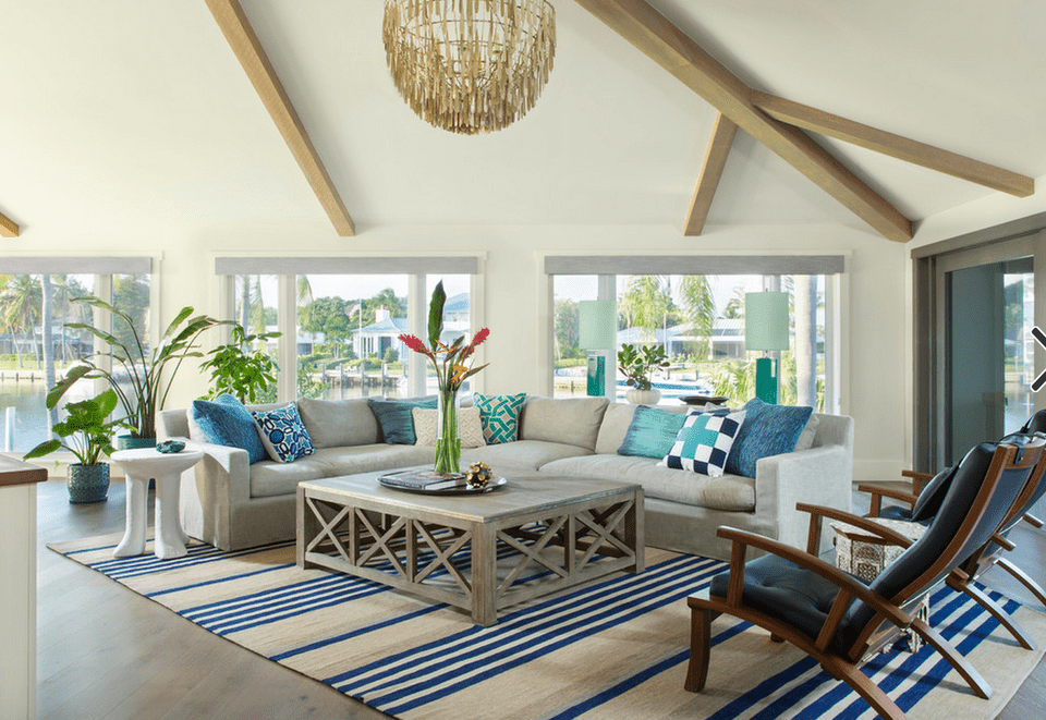 20 beautiful beach house living room ideas for Contemporary beach house interior design