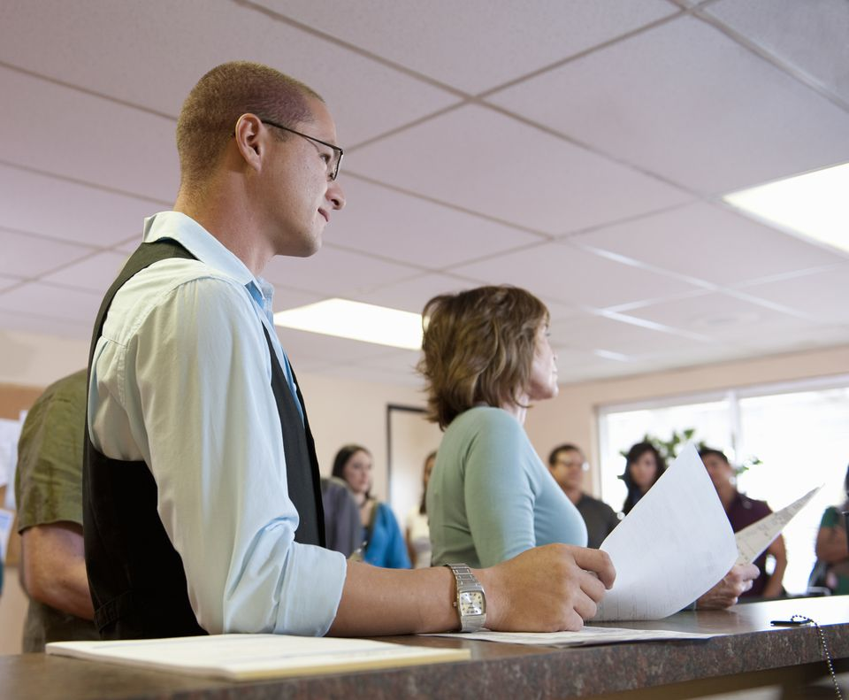 Applicants at the DMV