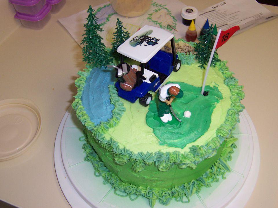 25th Birthday Party Golf Theme Cake