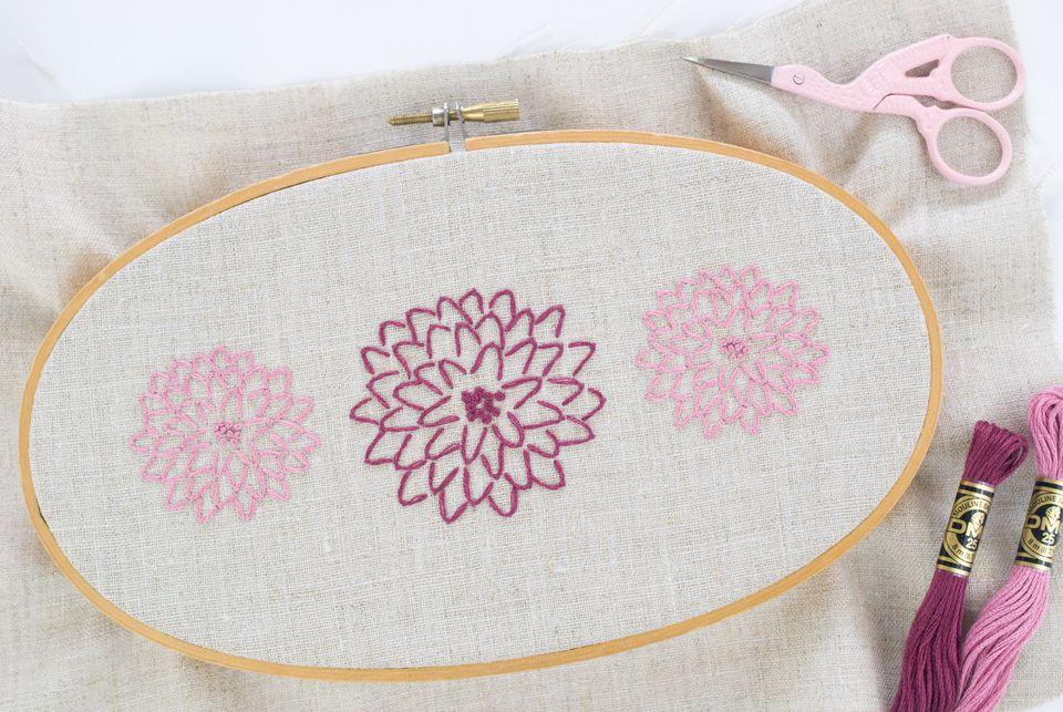 Modern Chrysanthemum Embroidery