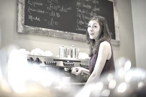Teenage barista