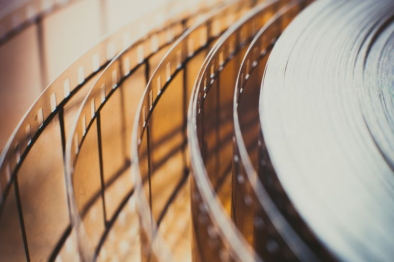 Extreme Close Up Of Film Reel