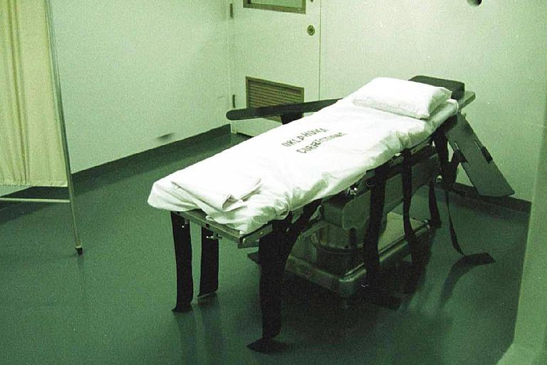 8/96 Oklahoma The Death Chamber at Oklahoma State Penitenitary, where Steven Keith Hatch was execute
