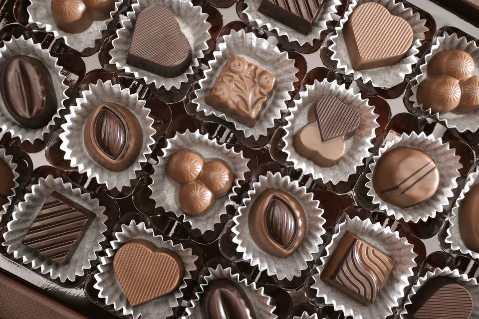 Close up of assorted chocolates