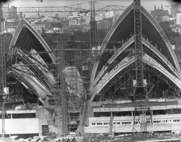 Sydney Opera House Under Construction in August 1966