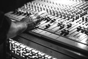 Mobile Sound Recording Studio Mixer Desk at Life Event