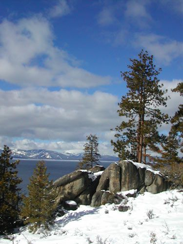 Spectacular winter scenery abounds at Lake Tahoe