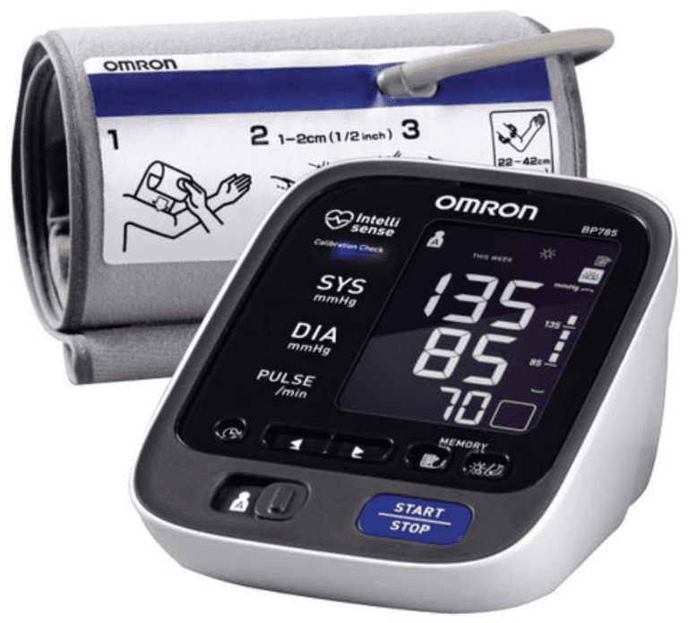 Omron - 10 SERIES Advanced Accuracy Upper Arm Blood Pressure Monitor - Gray/White/Black
