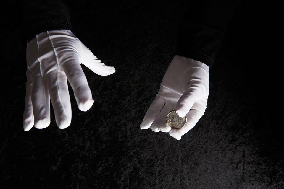Magic coin trick