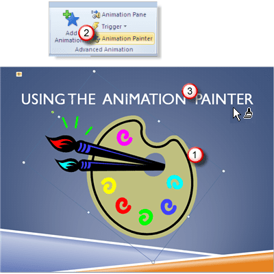 Using the PowerPoint 2010 Animation Painter