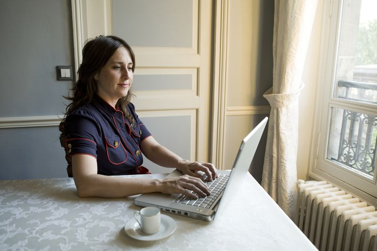 Picture of a woman on a laptop computer