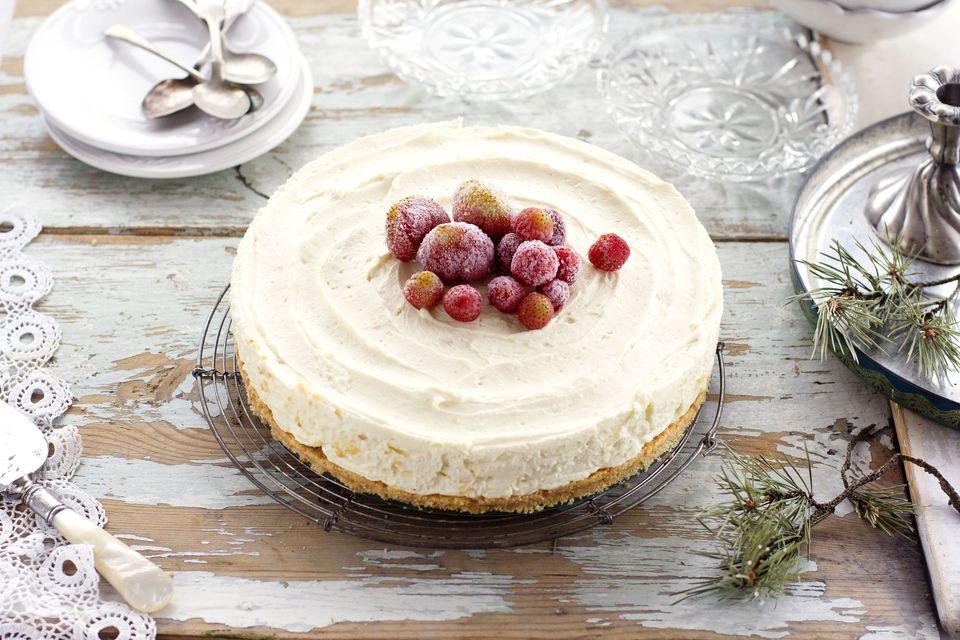 Mascarpone and white chocolate not baked cake
