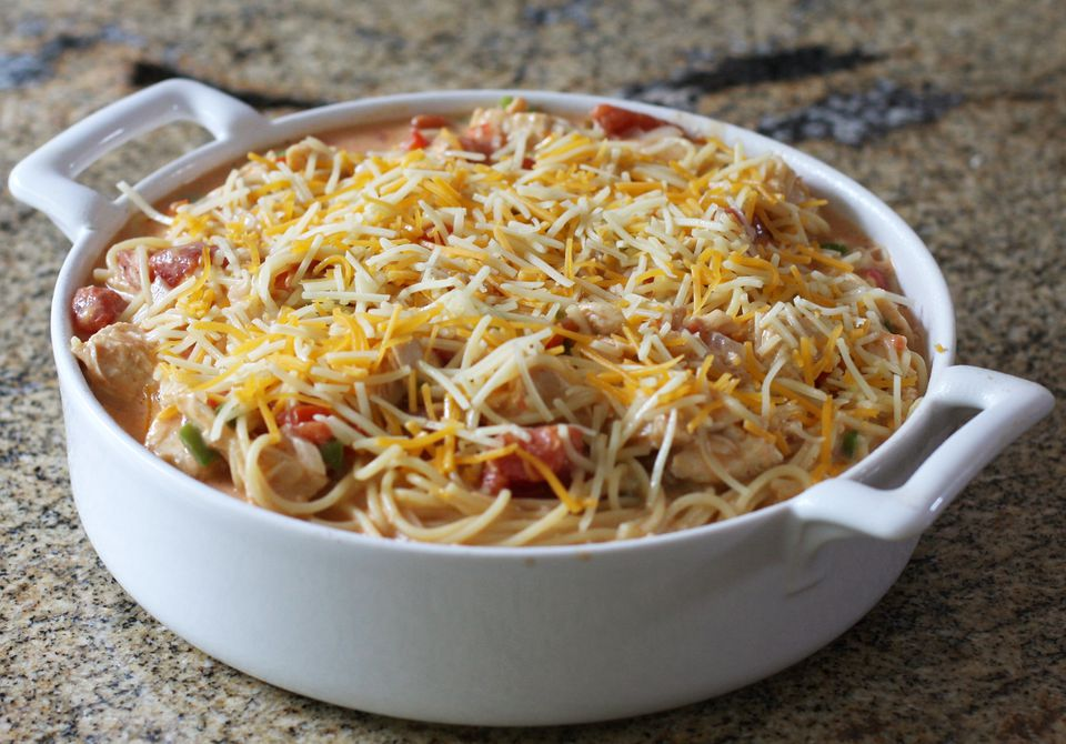 Chicken Spaghetti With Cheese