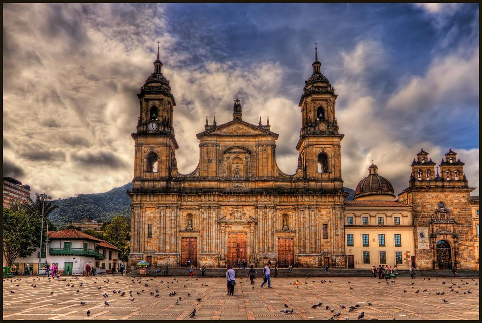 Catedral Primada, Bogota, Colombia This is the main Cathedral in Bogota, Colombia, called Catedral Primada. It is in the East side of the Plaza de Bolivar.