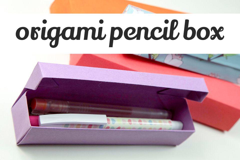 origami pencil box tutorial