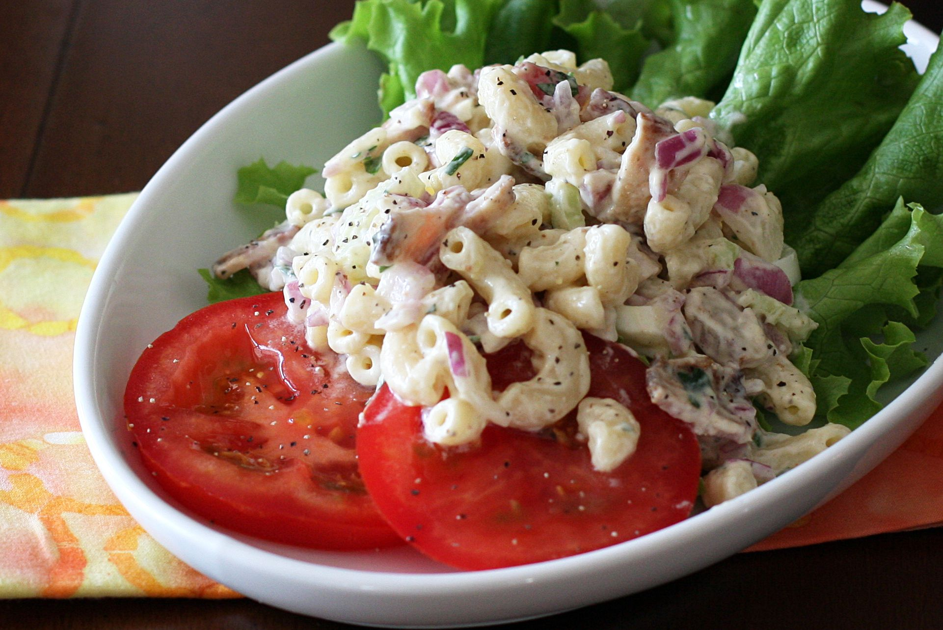 BLT Macaroni Salad Recipe With Bacon