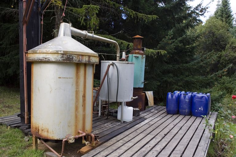 This is an example of a homemade still or distillation apparatus.