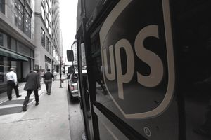 A United Parcel Service Inc. (UPS) truck makes deliveries