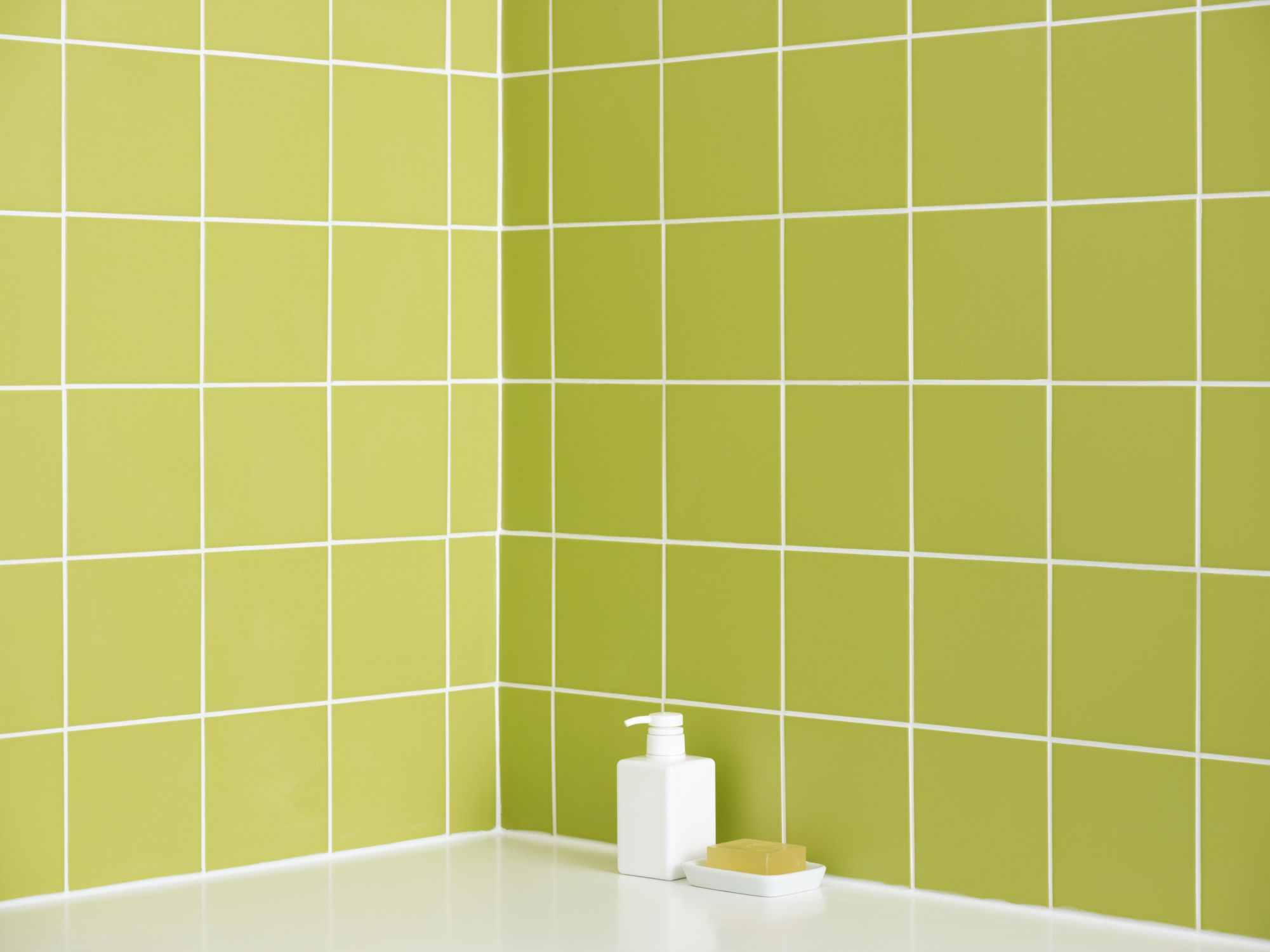 Bring green color to your bathroom with tiles doublecrazyfo Choice Image