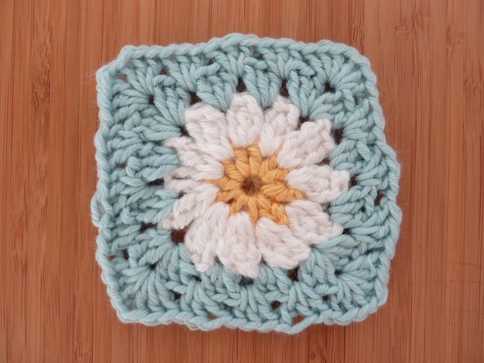 Directly Above Of Crochet Art On Table